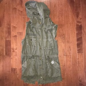 Military parka vest